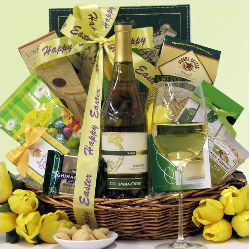Columbia Crest Chardonnay: Easter Gourmet Wine Gift Basket