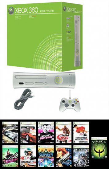 Xbox 360 Core System + 11 GAMES