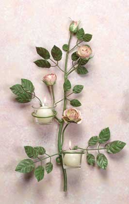 Rose Blossom Sconces