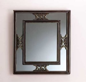 Antique-look wall mirror