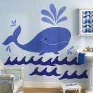 NU IN BOX Wallies Whimsical Whale Big wall Mural 14300