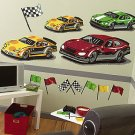 NEW IN BOX Wallies Raceway Big wall Mural NICE 14202