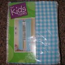 NEW THE KIDS ROOM BETSY SOFT BLUE WINDOW PANEL CURTAIN 40x84 set of 2