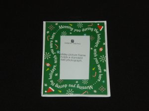 Missing You Holiday Picture Frame