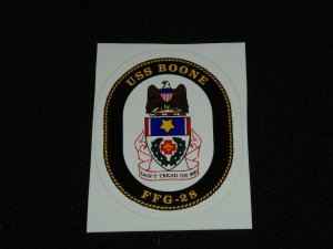 USS Boone (FFG-28) Navy Decal