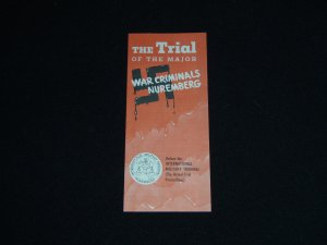 Nazi War Crimes Nuremberg Trial Proceedings Brochure