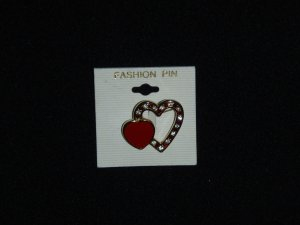 Heart Fashion Pin