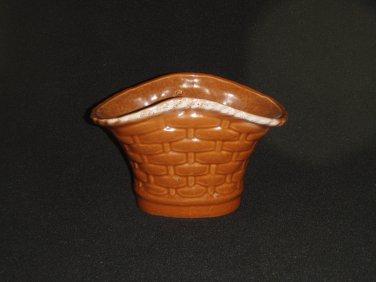 Brown Basket Planter - Vintage