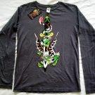 Ed Hardy Long Sleeve Dragon Dagger T Shirt Small