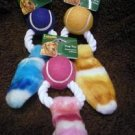 Choose 1 Hartz 3 in One Ball Rope Plush Squeak Dog Toy