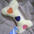 Paws N Claws Plush Squeak Bone Dog Toy  - NWT