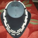 Swarovski pearl necKlace with Swarovski crystals