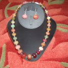Carnelian necklace with earrings