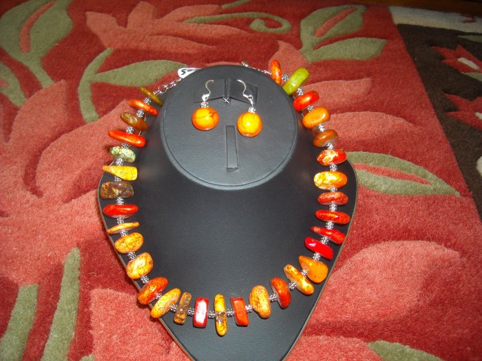 CHUNKY UNAKITE NECKLACE