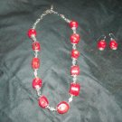 Chunky Coral necklace with earrings
