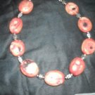 Chunky oval coral necklace