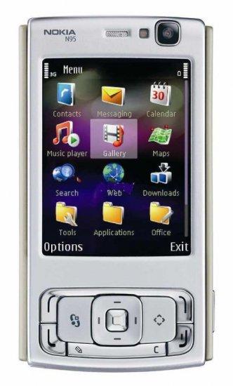 Brand New! NOKIA N95 Unlocked Smartphone w/Black Back - Retail