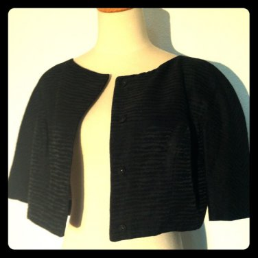 Vintage 40s 50s Black Bolero Jacket