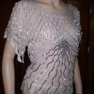 Vintage 80s Beaded Blouse M