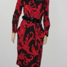Vintage 70s 80s Leslie Fay Dress M