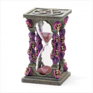 Purple Grim Reaper Hourglass