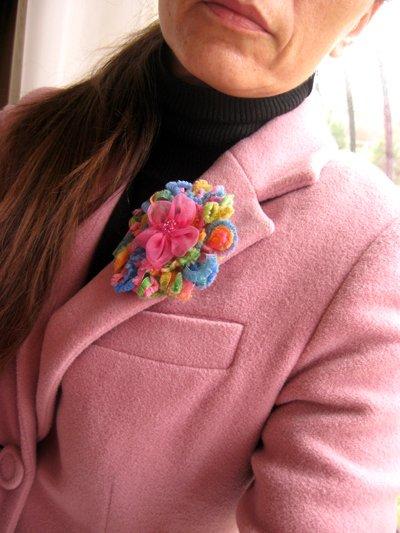 Pink Tones Romantic Brooch