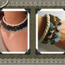 Verbena Garden Necklace and Bracelet Set