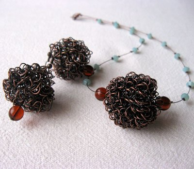 Chaos Necklace and Earrings