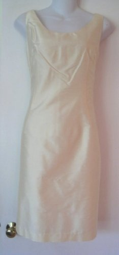 NWOT Yellow Silk Jacket & Dress Set Size 4