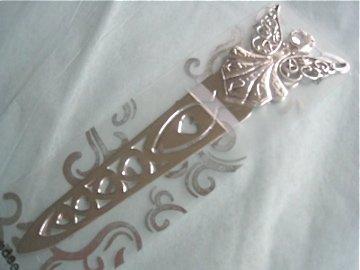 Silver Guardian Angel Bookmark