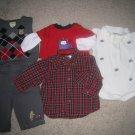 8pc 3 - 6m BABY BOY WINTER CLOTHING LOT  free shipping