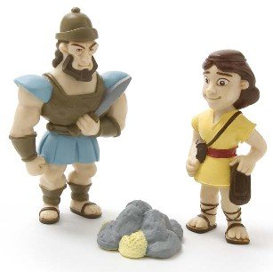 David and Goliath Playset