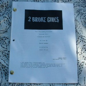 2 BROKE GIRLS Script Aired October 24, 2011 - NEW