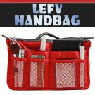1 LEFV Purse Handbag Tote Bag Pockets Travel Organizer 4x6x11""
