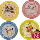 24 x Cartoon Wall Clocks - Winnie, Mickey, Snoopy, Hello Kitty