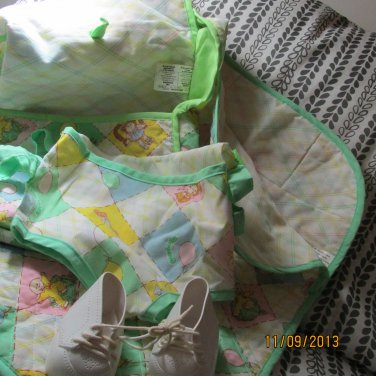 Cabbage Patch Kid Sleeping bag, shoes, carrier, and diaper bag