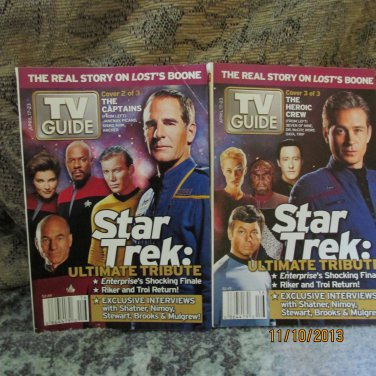 2005 TV Guide Star Trek Tribute Set of 2