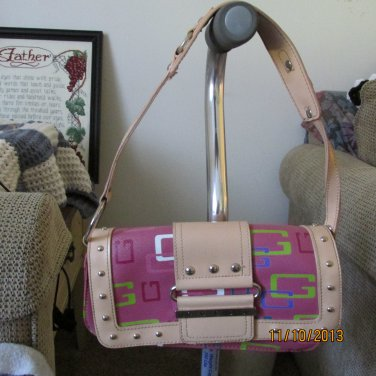 Faux leather and canvas Guess bag