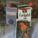 Set of 5 pet bird care books