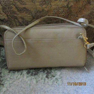 Tan Clutch type purse