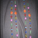 BEAD NECKLACE & EARRINGS
