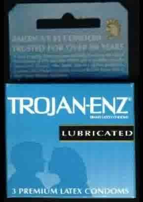 Trojan-Enz Condoms - Lubricated 3pk