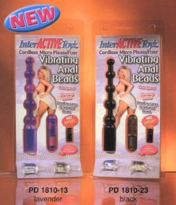 Vibrating Anal Beads Waterproof - Black