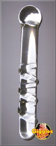 Twisty Wand - Clear Glass Dildo