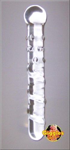 Bumpy Twisty Wand - Clear Pyrex Glass Dildo