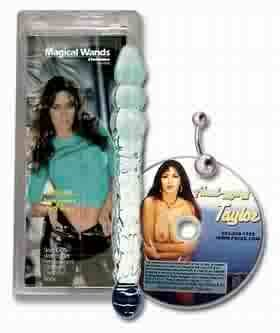 "Erotic Magical Wand 11"" Glass Dildo"