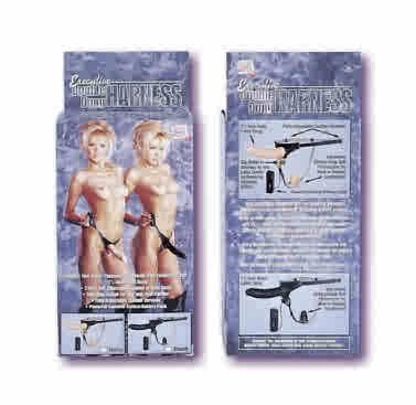 Executive Double Dong Harness - Ivory Dildo