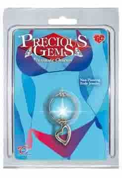 Precious Gems Intimate Charms Belly Ring - Heart Charm