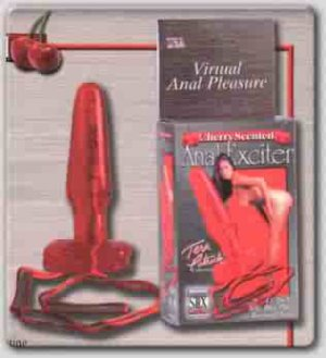 Cherry Scented Anal Exciter Butt Plug - SE741011