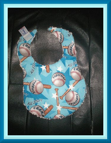 Boutique Baby Boy Baseball Bib ~ Batter Up